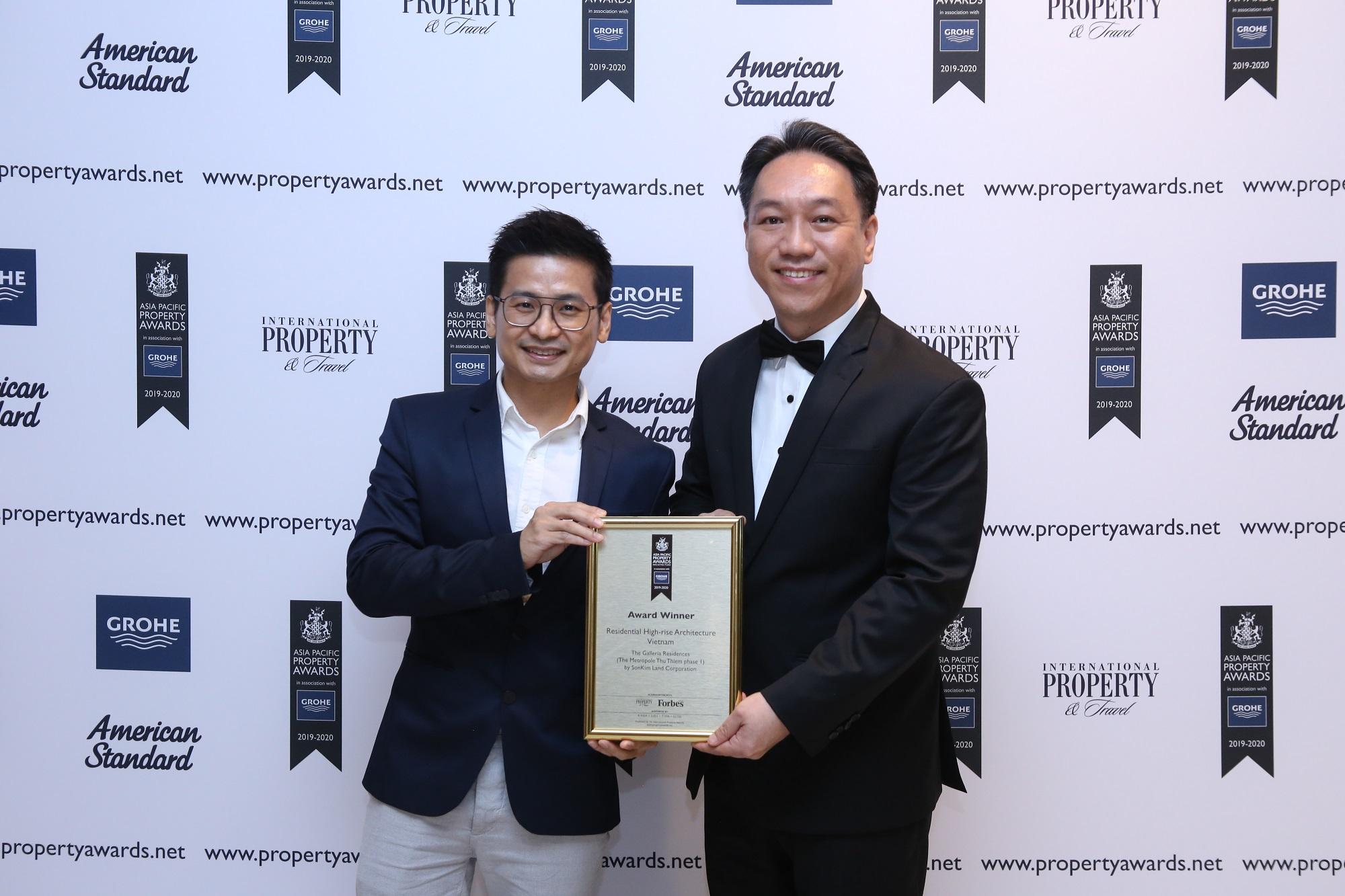SonKim Land đạt 2 giải thưởng tại Lễ trao giải Bất động sản Châu Á Thái Bình Dương 2019 với dự án The Galleria Residence